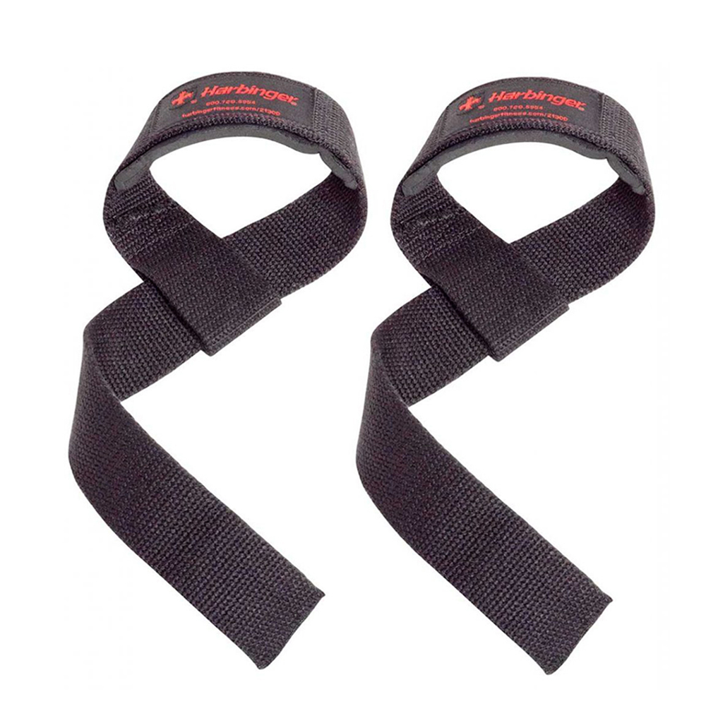 Harbinger Padded Cotton lift straps black