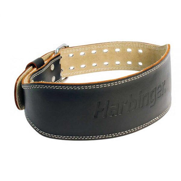 "Harbinger 5"" Padded Leather Belt black"