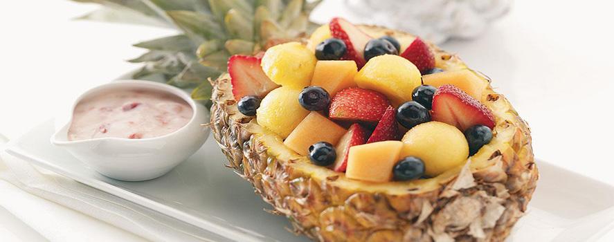 ananas umplut cu fructe